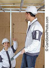 工人, 男性, 女性, 建設