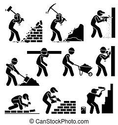 工人, constructors, 建造者