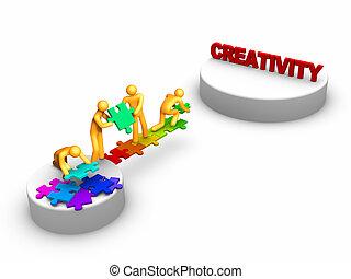 工作, 創造性, 隊