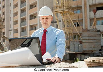 工作, 建設, 建造者, 站點