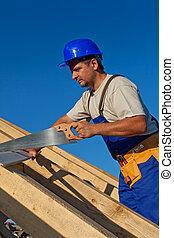 工作, 木匠, 屋頂