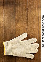 工作, 木頭, 手套