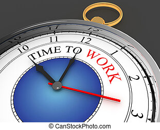 工作, 概念, 人物面部影像逼真, 時間鐘