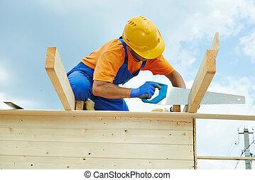 工作, 看見, 木匠, 手