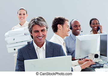 工作, 肖像, 微笑, 商業組