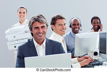工作, 肖像, 積極, 商業組