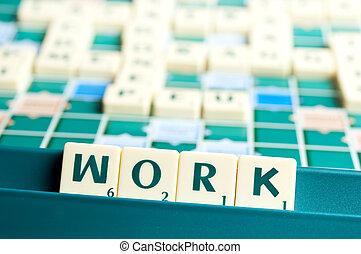 工作, 詞