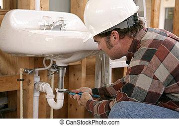 工作, 鉛錘測量, 建設
