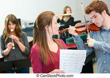 工作, 音樂教師