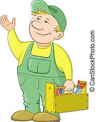 工具箱, 工人, 人