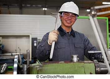 工具, 技師, 車間, 亞洲人