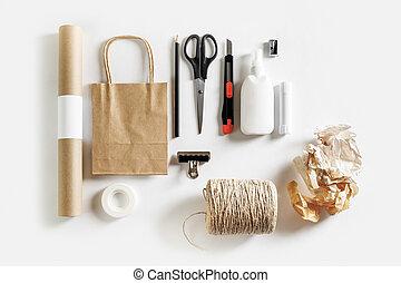 工具, 材料, scrapbooking
