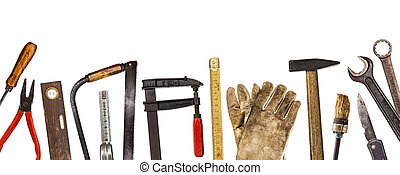 工具, 老, whi, 工匠, 被隔离