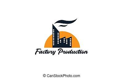 工廠, 圖象, 插圖, 矢量, 電影, 標識語