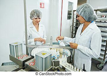 工廠, 工業, 配藥, 工人