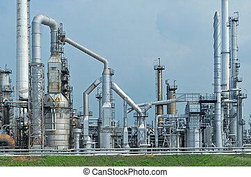 工廠, 煉油廠, 早晨
