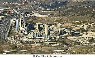 工廠, 空中, 水泥