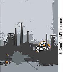 工廠, grunge, 黑色半面畫像