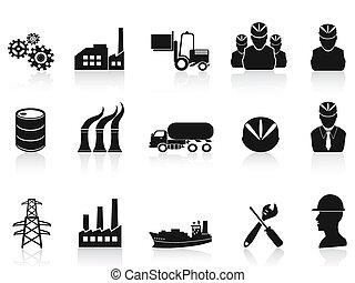 工業, 集合, 黑色, 圖象