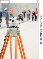 工程師, 照像機, 調查, 集中, 隊
