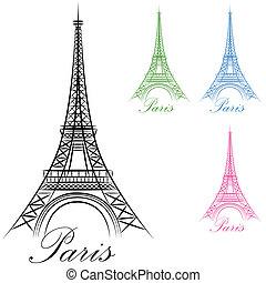 巴黎, 塔, eiffel, 圖象