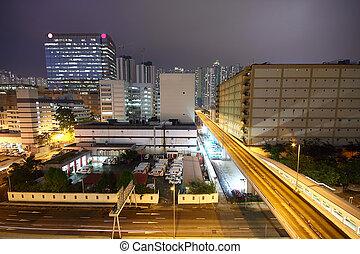 市區, 城市, 夜晚