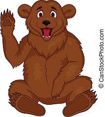 布朗, 卡通, 熊