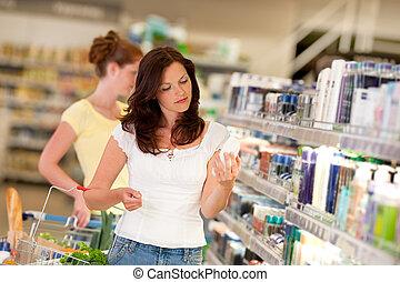 布朗, 婦女購物, 系列, -, 頭髮, 化妝品部門