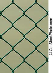 布朗, 電線, 垂直, 柵欄, 圖案, 被隔离, 背景, 綠色