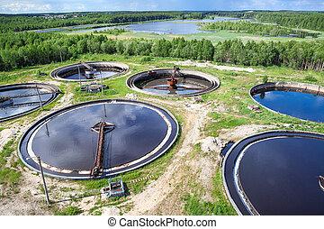 常綠植物, 植物, 工業, 空中, 森林, 看法, wastewater, 治療