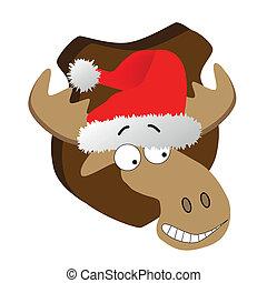 帽子, 克勞斯, 鹿, 聖誕老人