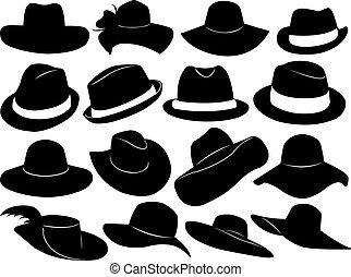 帽子, 插圖