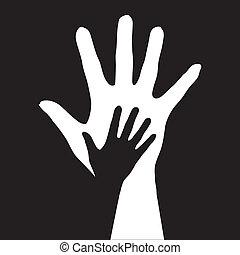 幫助, hands.