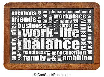 平衡, 工作, 詞, 生活, 雲