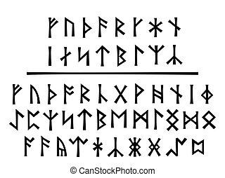 年輕, northumbrian, runes, 預訂