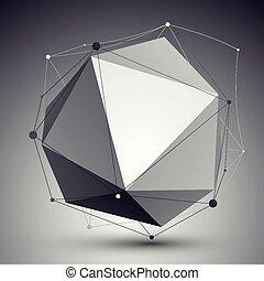 幾何學, 矢量, 摘要, 對象, 3d