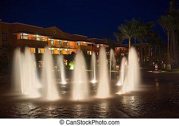 度假旅館, 自來水廠, 夜晚, 墨西哥