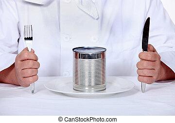 廚師, 坐下, 罐頭能, 膳食