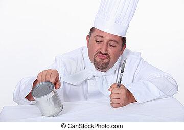 廚師, 錫, 推, 罐頭