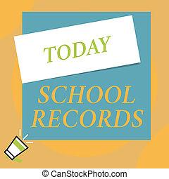 廣場, 相片, 下來, 空白, 傳記, 資訊, records., 寫, 筆記, corner., 上面, 擴音器, 長方形, 事務, 大, 顯示, 學校, showcasing, 棍, 孩子, 大約, kept, 小, 左
