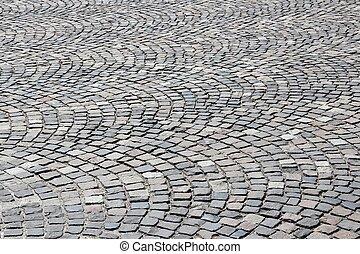 廣場, 石頭, 鋪