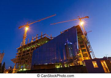 建築工地, 夜晚
