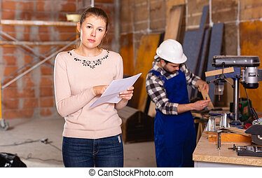 建築工地, 女性, 設計師