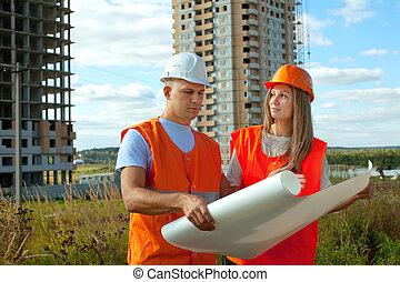 建築工地, 工作, 建造者