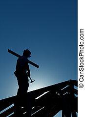 建築物, 后來, 建造者, 頂部, 工作