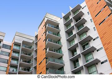 建築物, 居住, 公寓, 現代