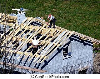 建築物, 房子, 木匠, 屋頂