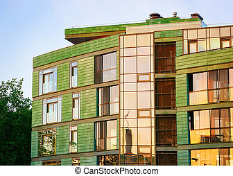 建築物, 現代, 豪華, 外部