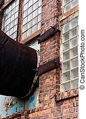 建築物, 管子, 通風, 工業, 連線