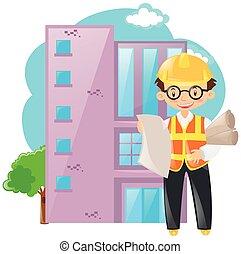 建築物, 領班, 工作